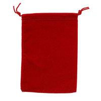 Suede Cloth Dice Bag (Small, Red)