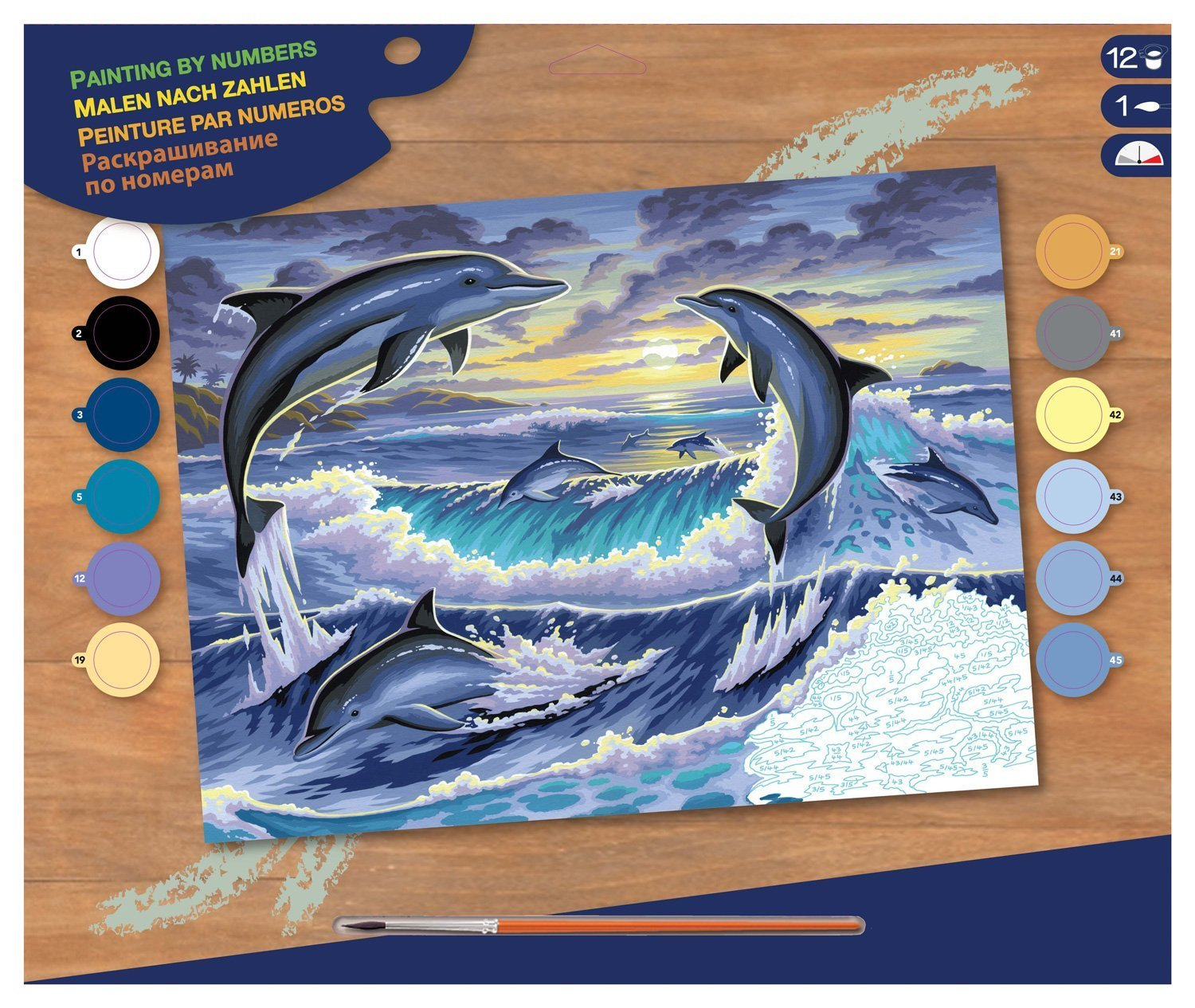 Paint by Numbers - Dolphin Sunrise image