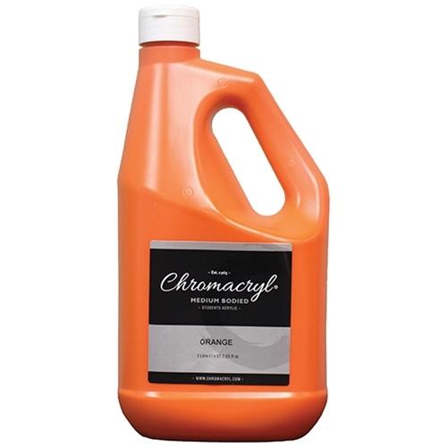 Chromacryl Students' Acrylic Paint 2 Litre (Orange) image