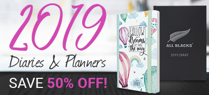 50% off selected Diaries & Planners!