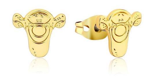 Couture Kingdom: Disney Winnie the Pooh Tigger Stud Earrings - Gold