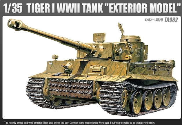 "Academy Tigertank WWII ""Exterior Model"" 1/35 Model Kit"
