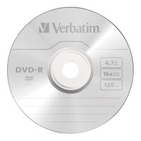 Verbatim DVD-R 4.7GB White InkJet 16x (50 Pack)