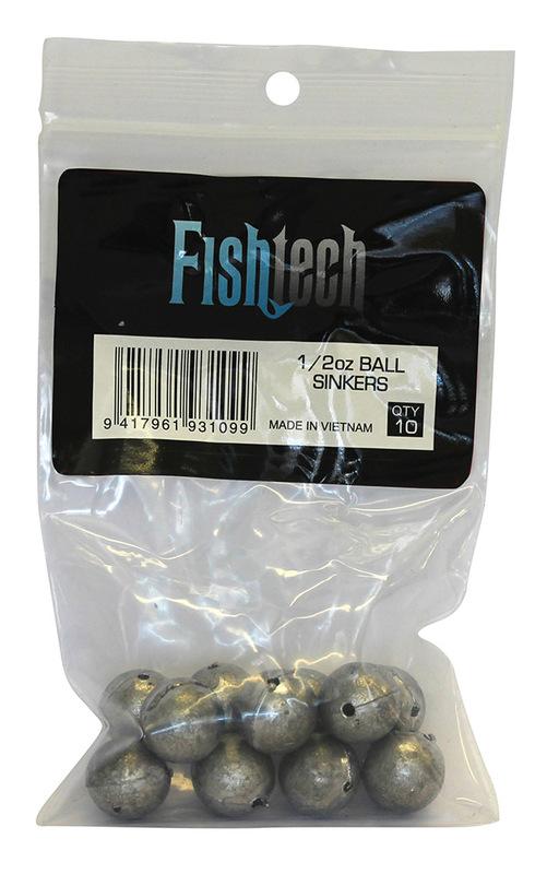 Fishtech Ball Sinkers 1/2oz (10 per pack)