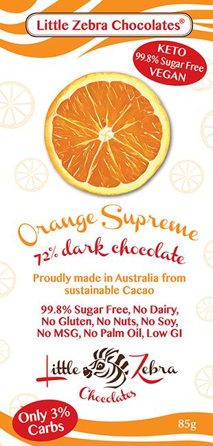 Little Zebra Chocolates: Orange Supreme