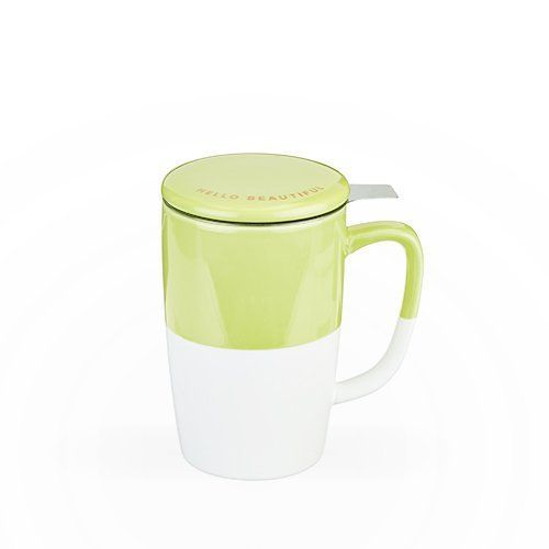 Delia: Tea Mug & Infuser - Green
