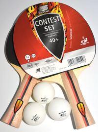 Sunflex: Table Tennis - 4 Player Set - 4 Bats/6 Balls/Net & Post