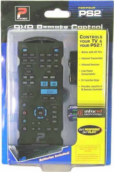 Playtech PS2 DVD Remote for PlayStation 2