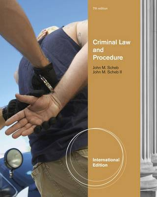 Criminal Law and Procedure, International Edition by John M Scheb image