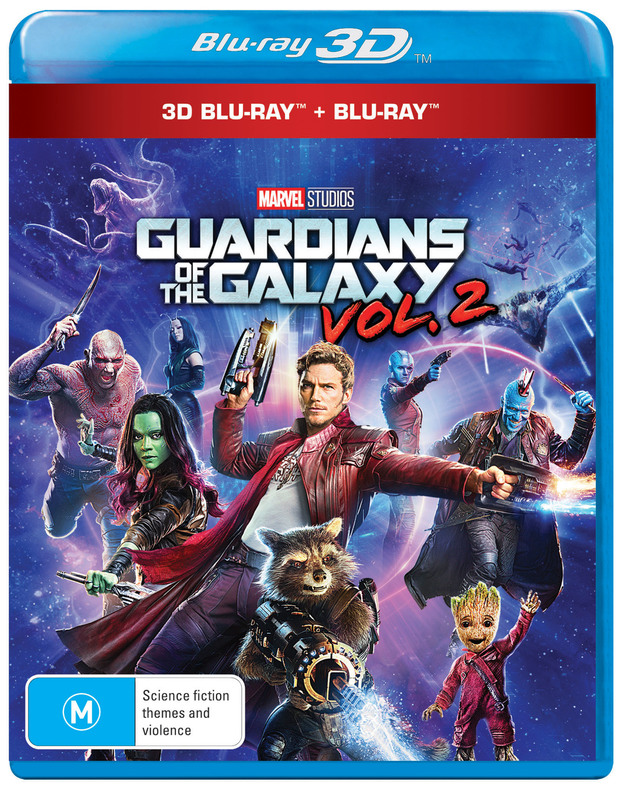Guardians of the Galaxy Vol. 2 on Blu-ray, 3D Blu-ray