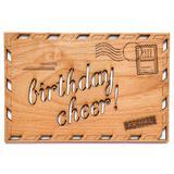 Cardtorial Wooden Card - Birthday Airmail
