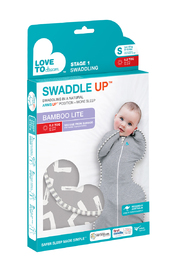 Love to Dream: Swaddle Up Bamboo 0.2Tog - Grey (Small)
