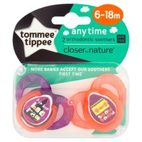 Closer to Nature Any Time Soother 6-18 Months (Purple) - 2 Pack