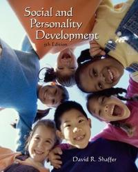 Social and Personality Development (with InfoTrac (R)) by David Shaffer image