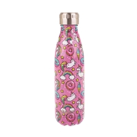 Oasis Stainless Steel Double Wall Insulated Drink Bottle - Unicorn (500ml)