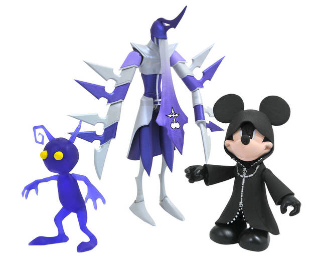 Kingdom Hearts: Select Action 3-Pack - Black Coat Mickey/Assassin/Shadow