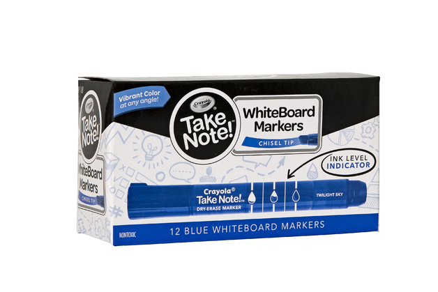 Crayola: Take Note - Whiteboard Markers - Blue (12 Pack)