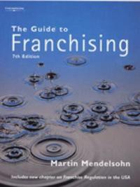 The Guide to Franchising by Martin Mendelsohn image