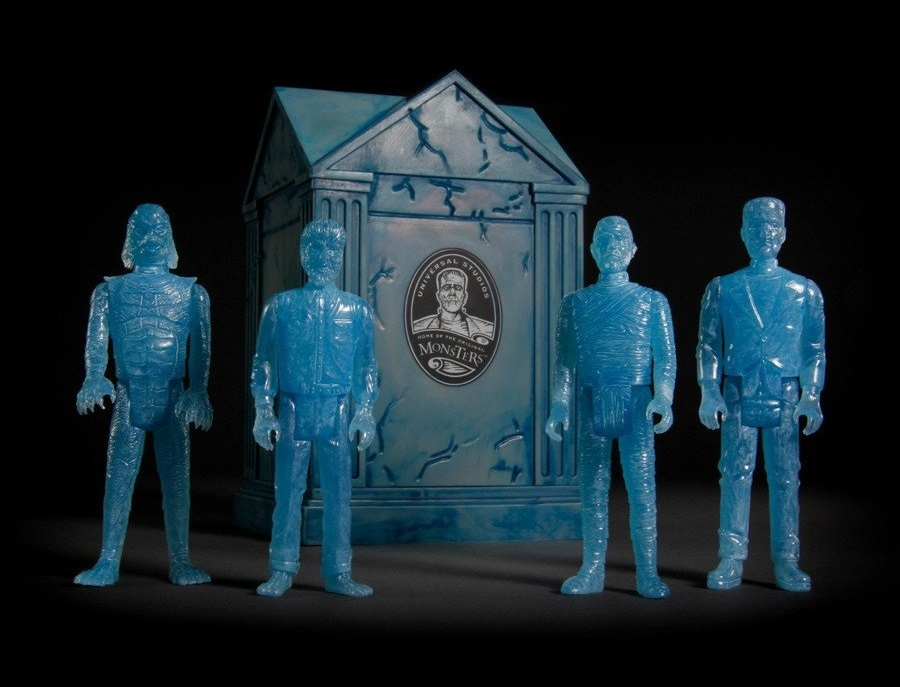 Universal Monsters: Blue Glow ReAction Figure Set with Crypt image