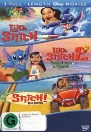 Lilo And Stitch / Lilo And Stitch 2 / Stitch! - The Movie (3 Disc Set) on DVD image