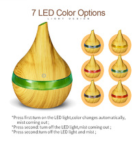 Natural Aroma 300ml Essential Oil Diffuser - Lightwood
