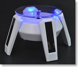 Solar Powered Display Stand - White (with Blue LED)