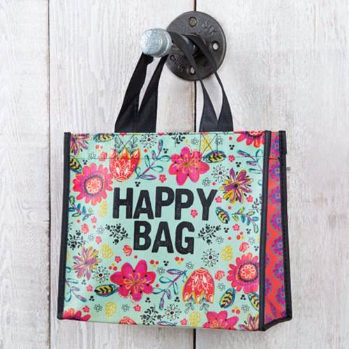 Natural Life: Recycled Gift Bag -Turquoise Happy Bag (Medium)