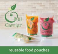 Kai Carrier Reusable Food Pouches with Choke Proof Lids - 5 Pack (140mL) image