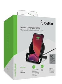 BOOST UP CHARGE Wireless Charging Stand 10W (AC Adapter Not Included) Black