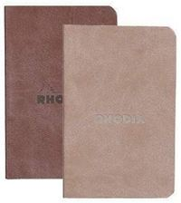 Rhodiarama Set of 2 Soft Cover Notebooks - Chocolate & Taupe