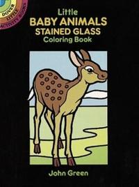 Little Baby Animals Stained Glass Colouring Book by John Green image