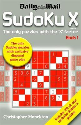 Sudoku X Book 1 by Christopher Monckton image