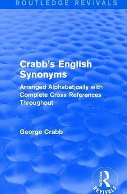 : Crabb's English Synonyms (1916) by George Crabb