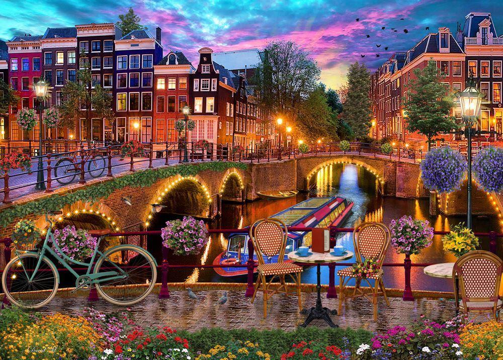 Holdson: 1000 Piece Puzzle - Of Land & Sea S2 (Holland Bridges) image