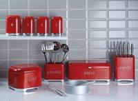KitchenCraft: Lovello 5pc Knife Block Set - Red image
