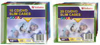 Verbatim CD/DVD Coloured Slim Cases 10 Pack image
