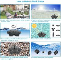 Floating Solar Outdoor Water Fountain Pump image