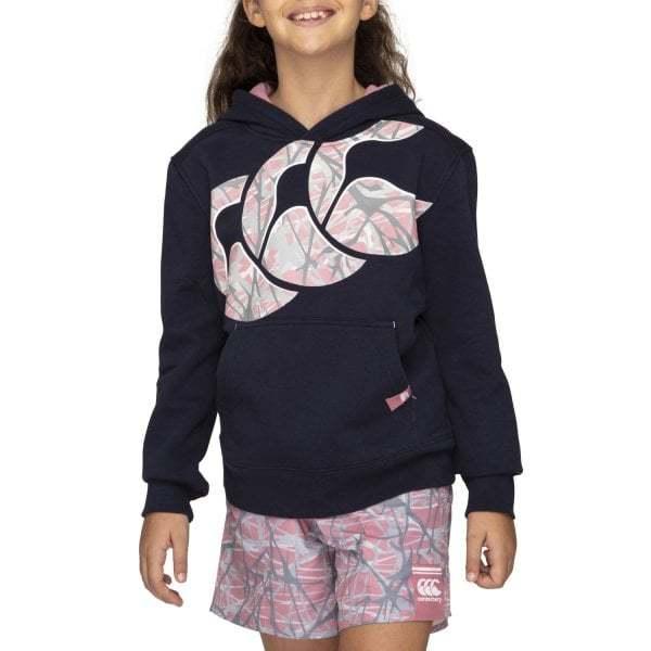Canterbury: Girls Camo Logo Hoody - Navy (Size 8)