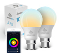 Smart Ape: 10W Colour & Warm/Cool White Smart Bulb (B22, Wi-Fi) - 2 Pack