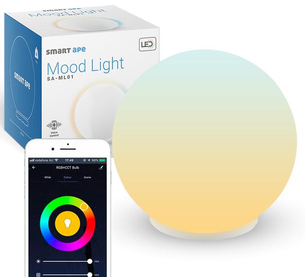 Smart Ape RGB Orb Night Mood Light Bedside Lamp