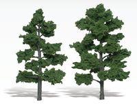 Woodland Scenics Med Green Trees (2 pack Medium)