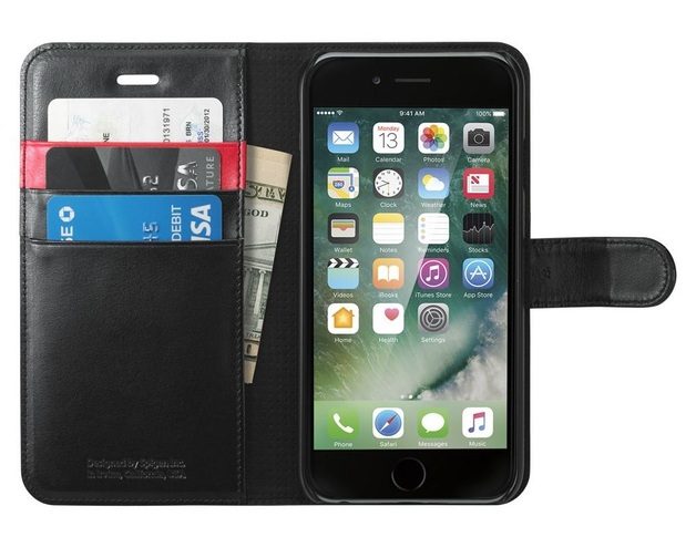 Spigen: iPhone 7 - Wallet Case (Black)