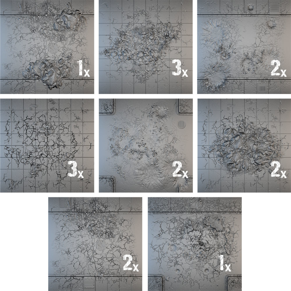 Tablescapes Tiles: Urban Streets - Damaged (16 tile set) image