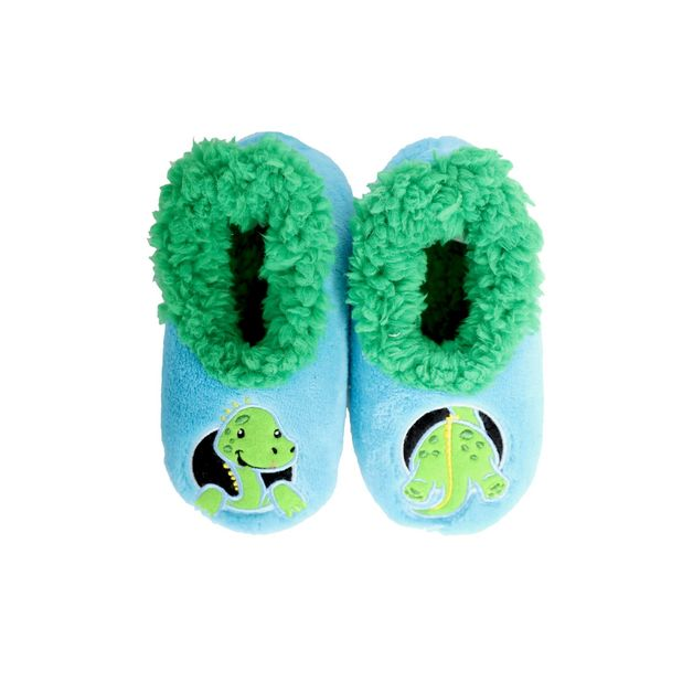 Slumbies: Dinosaur Patch Pal - Toddler Slippers (Large)