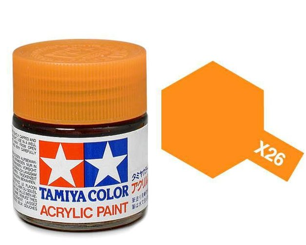 Tamiya Acrylic: Clear Orange (X26)