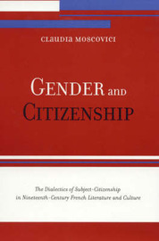Gender and Citizenship by Claudia Moscovici image