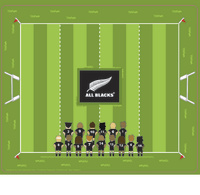 All Blacks Party Placemats