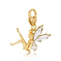Disney Tinker Bell Charm - Yellow Gold