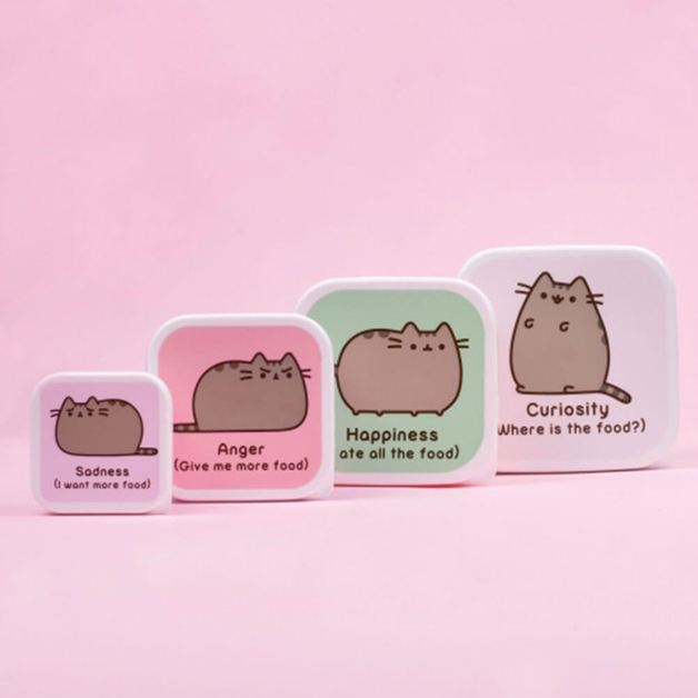 Pusheen the Cat Snack Box set of 4