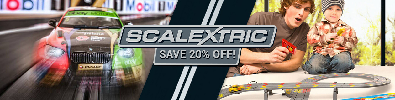 Save 20% off Scalextric!